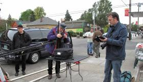 DP Philip Holahan on set of Pack Your Kit